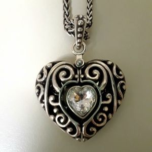 BRIGHTON NWT NECKLACE with HEART THAT OPENS!